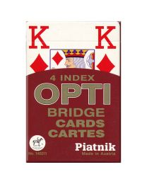 Piatnik 4 index OPTI Bridge Cards rood