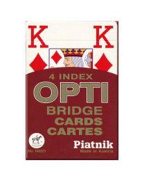 Piatnik 4 index OPTI Bridge Cards rood