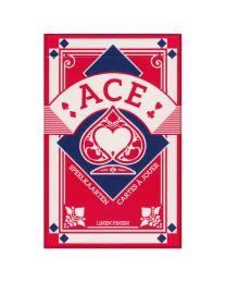 Ace cartes à jouer bridge rouge