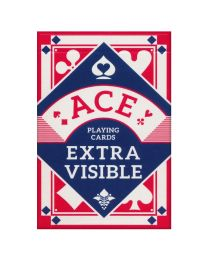 ACE playing cards extra visible rood