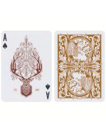 Antler Playing Cards Tobacco Brown