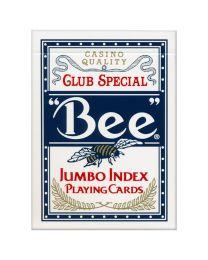 Bee speelkaarten Jumbo Index blauw