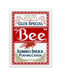 Bee speelkaarten Jumbo Index rood