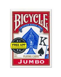 Bicycle speelkaarten jumbo index rood