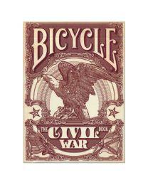 Bicycle Civil War Deck Confederate Red
