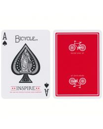 Bicycle Inspire speelkaarten rood