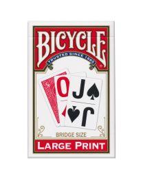 Bicycle grote print speelkaarten rood