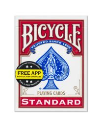Bicycle Magic Blank Back Red Standard Face