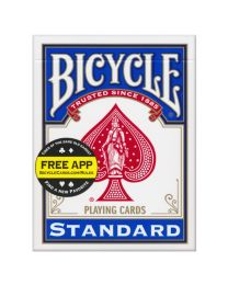 Bicycle Magic Blank Back Blue Standard Face