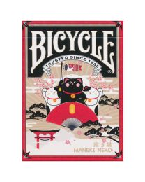 Bicycle Maneki Neko speelkaarten rood