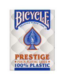 Bicycle Prestige 100% plastic kaarten blauw