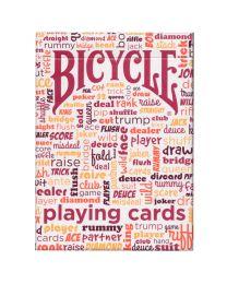 Bicycle tafel gesprek speelkaarten rood