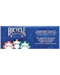 Bicycle clay pokerchips met tray