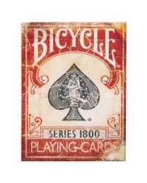 Gemarkeerde speelkaarten Bicycle Vintage Series 1800 rood
