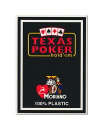 Plastic speelkaarten Modiano Texas poker zwart