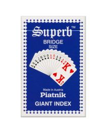 Piatnik Superb Giant Index Playing Cards Blauw
