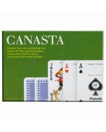 Canasta speelkaarten set met puntenwaarden Piatnik
