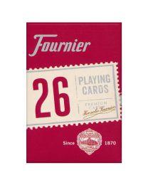Fournier Nº 26 bridge kaarten rood