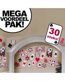 Casino cutouts karton decoraties