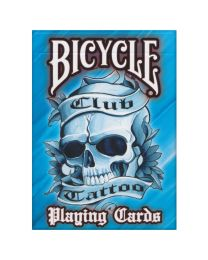 Blauwe Bicycle Club Tattoo playing cards
