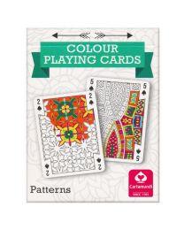 Kleur speelkaarten patronen