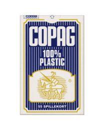Bridge speelkaarten blauw COPAG 100% plastic