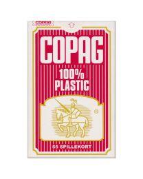 Bridge speelkaarten rood COPAG 100% plastic
