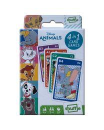 Disney Animals 4 in 1 speelkaarten spelletjes