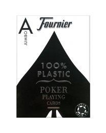 Plastic kaarten Fournier Jumbo blauw