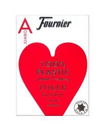 Plastic kaarten Fournier Jumbo rood