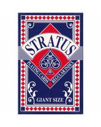 Giant Size Stratus Speelkaarten Blauw