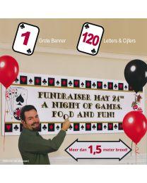 Grote gepersonaliseerde casino banner set