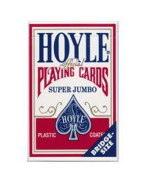 Hoyle super jumbo speelkaarten rood