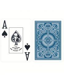 KEM plastic speelkaarten blauw
