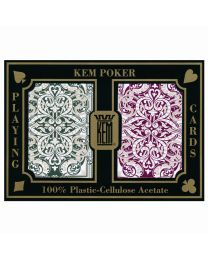 KEM Playing Cards Jacquard Rood en Groen