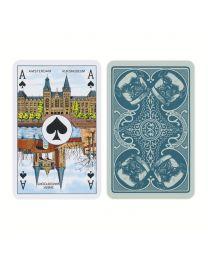 Klaverjas kaarten hondjes blauw