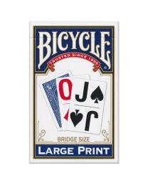 Bicycle grote print speelkaarten blauw