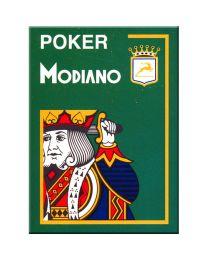 Groene plastic speelkaarten Modiano