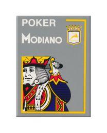 Grijze plastic speelkaarten Modiano