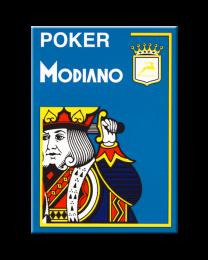 Lichtblauwe plastic speelkaarten Modiano