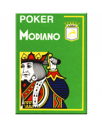 Lichtgroene plastic speelkaarten Modiano