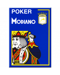 Blauwe plastic speelkaarten Modiano