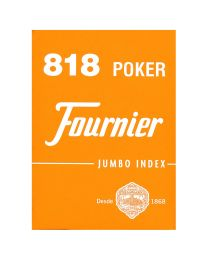 818 Poker Fournier speelkaarten oranje