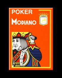 Oranje plastic speelkaarten Modiano