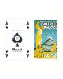 Piatnik bridge speelkaarten dames golf
