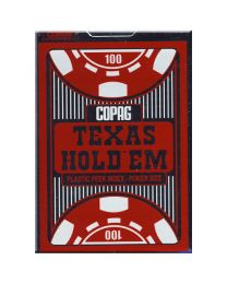 COPAG Texas Hold'em Poker Kaarten Peek Index rood
