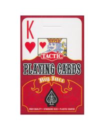 Tactic Playing Cards Big Face Rood