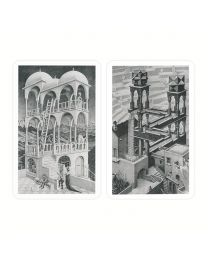 Bridge Playing Cards Escher Up and Down Piatnik