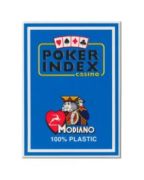 Modiano kaarten poker index licht blauw