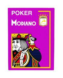 Paarse plastic speelkaarten Modiano